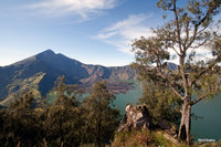 panorama view of Rinjani, from the western rim, Mount Rinjani photo