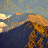 view on Batur, Mount Agung