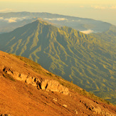 the Batur caldera, west of Agung, Mount Agung