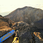 the giant Caldera of Agung, Mount Agung