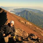 view to the Batur caldera, Mount Agung