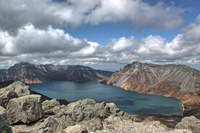 View of Mount Paektu, Mt Baekdu-Mt Changbai photo