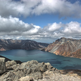 View of Mount Paektu, Mt Baekdu-Mt Changbai