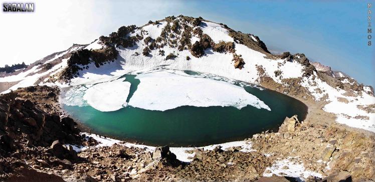 Half  frozen  lake, سبلان