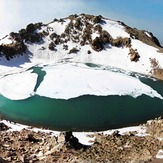 Half  frozen  lake, Sabalan