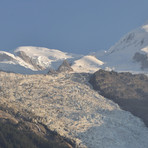 Mont Blanc and the Bossom glacier