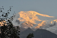 Mont Blanc in sunset photo