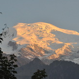 Mont Blanc in sunset