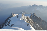 Eastern wiew from 4807 m , Agiuille du Midi, Mont Blanc photo