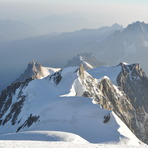Eastern wiew from 4807 m , Agiuille du Midi, Mont Blanc