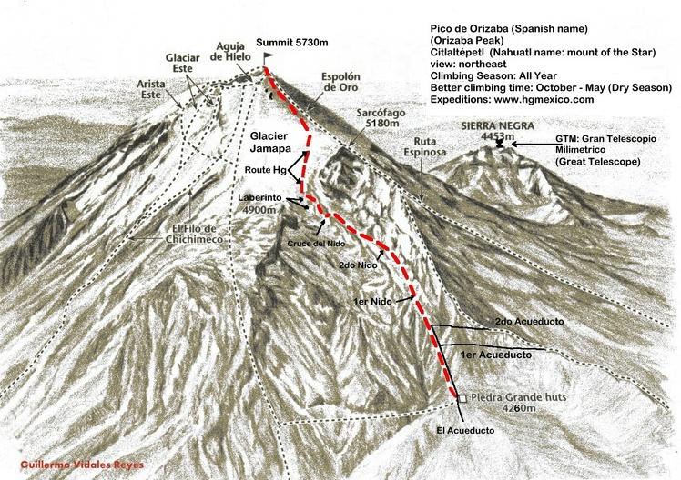 Pico de Orizaba Climbing route 2012