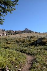 Trail to the saddle, Hyndman Peak photo