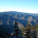 Hike down from the lodge via Alum, Mount LeConte