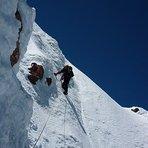 Marcelo Soto y Franz Shirmer  en la pared Sur, Monte Puntiagudo, Los Lagos Chile., Puntiagudo-Cordón Cenizos
